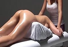 Lesbian Girl Erotic Massage Oil Directors - LesbianCums.com