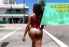 Mya and Priya amateur bikini booties picked up in the beach