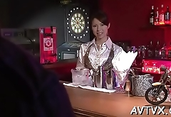 Pretty asian charms with wet blowjob and hot penis saddling
