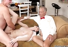 Big cock hardcore gangbang Frannkie goes and tongues her muff and