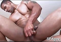 Hunk is pounding stud'_s anal via lusty massage