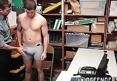 Gay shoplifter facialized