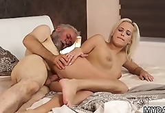 Old man creampie Surprise your gf and she will fuck with your dad