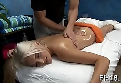 Sexy 18 year old cutie gets fucked hard doggy style by her masseur