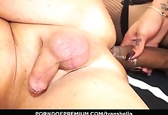TRANS BELLA - Hot hardcore ass fucking with naughty brunette Latina tranny Melissa Pozzi