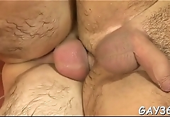 Pretty gay dude sucks rod of his friend before banging him