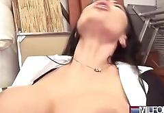 Ania Kinski sexy milf in office hard bang on cam