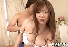 Dude fingers and toys japanese babe'_s unshaved beaver