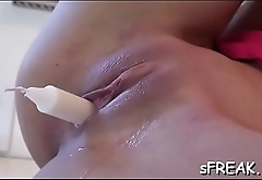 Wicked pornstar enjoys erotically playing with her pussy
