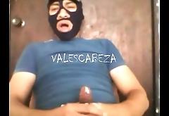 ValesCabeza181 MASKED CUM deslechado enmascarado me escurre el semen