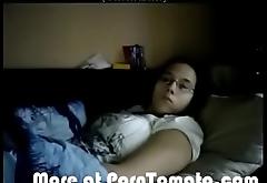 Wife Mastubates on Spycam 2