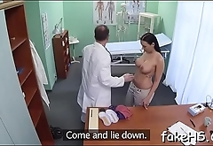 Squelching bawdy cleft of a doctor endures hardcore fucking