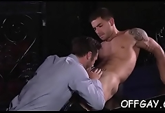 Studs in suits delight with a complete gay porn play