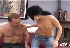 Stud takes pleasure in spewing spunk flow on babes lovely tits