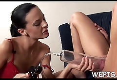 Babe is pissing while that babe is riding dick of her boyfriend