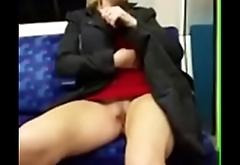 public flashing hot milf