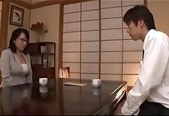 Schlong hungry japanese mature sucks a big wang passionately