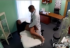 Lustful doctor doesn'_t mind getting her fur pie hammered