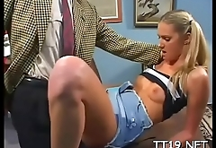 Juvenile irritation sucks her teacher and gets drilled hardcore style