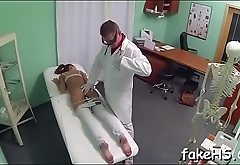 At final our horny doctor manages to have a fun the wild fucking
