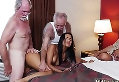 Old guy creampie Staycation with a Latin Hottie