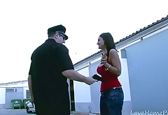 Sexy Brunette Locked Up And Fucked By Cop