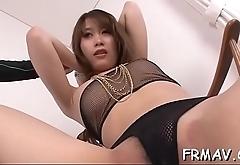Horny japanese slut gives fantastic in car oral-job