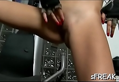 She enjoys her juicy twat cheerful relating to a dildo insertion