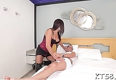 Soaked ass of a horny ladybody gets slammed really hard