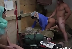 Muslim lady and arab refugee Operation Pussy Run!
