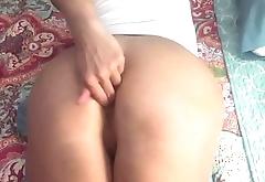 Brunette tasting ass
