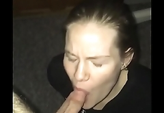 Stupid whore Meg eating my ass, gagging on my cock and jerking me