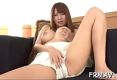 Lovely japanese girl achieves sexy orgasm from wild sex