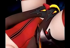 Mercy from Overwatch Rubbing Pussy Fixed Climax - by OpticonStudios