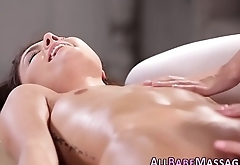 Teen massaged and licked