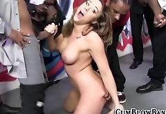 Babe blows black schlongs