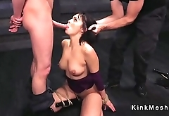 Busty brunette toyed and fucked