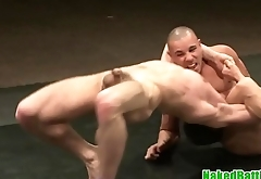 Underwear hunks wrestle and assfuck