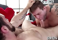 Nude hunks enjoying oral sex and ass fucking on cam