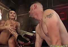 Busty ts spoil spraying jizz on partners face