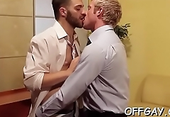 First time sucking cock at the office and that guy likes it