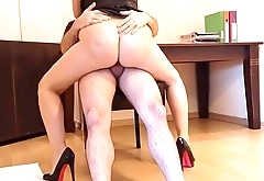 Persian girl fucks her boss in the office.