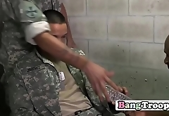 Black dude pounded with white dicks