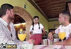 BANGBROS - Hot Young Waitress Apolonia Working Hard For Fattening