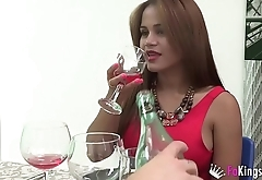 The day naughtySasha fucked three cocks and sucked the restaurant waiter'_s dick.