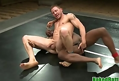 Wrestling black stud pounded on the floor