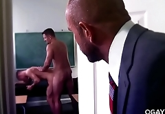 Hairy coach fucks the principal