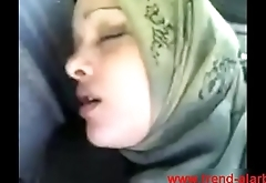 muslim hijab sex not far from car