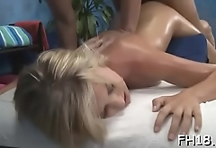 These 3 gals fucked hard by their massage therapist after getting a soothing rubdown