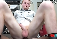 Gingerhead sucks BBC and take it up his gay asshole to get a job